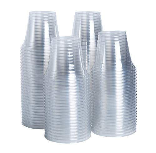 [150 Count] 9 oz. Clear Plastic Party Cups - Plastic Wine Tumblers