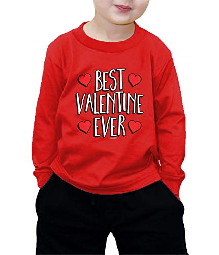 HAASE UNLIMITED Best Valentine Ever Long Sleeve Shirt (Red, 5\6)
