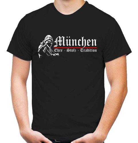 München Ehre & Stolz T-Shirt | Fussball | Basketball | Bayern | Trikot | Ultras | Männer | Herren | Fanshirt