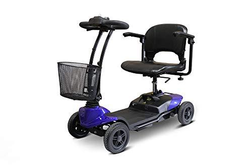 New EWheels Medical EW-M35 Lightweight 4-Wheel Blue Scooter