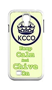 Cool Painting Keep Calm And Chive On KCCO Snap-on Hard Back Case Cover Shell for Samsung GALAXY S4 I9500 I9502 I9508 I959 -805
