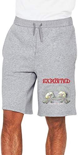 The Exploited パンクバンド Fuck The System ハーフパンツ ショートパンツ フィットネス スポーツ ランニング 吸汗速乾 ズボン カジュアル メンズ