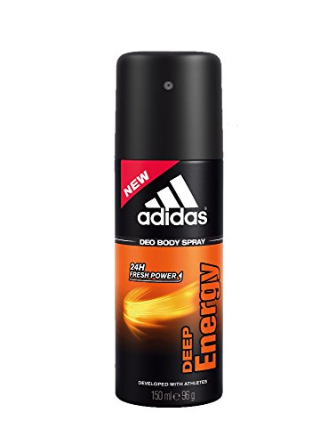 Price comparison product image Adidas Deep Energy Deodorant Body Spray for Men, 5 Ounce