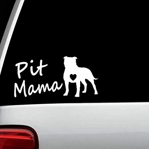Bluegrass Decals M1103 Pit Bull Mama Dog Breed Decal Sticker