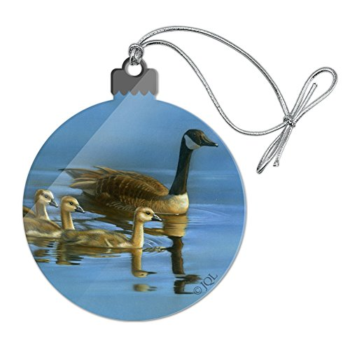 GRAPHICS & MORE Canada Canadian Geese Family Acrylic Christmas Tree Holiday Ornament (Clear Ornaments Canada)