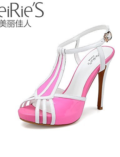 MeiRie'S Blue Sandals Nappa Heel Stiletto Toe Light Heels Open Shoes Blue Red Women's ShangYi Casual FPdCxqwF