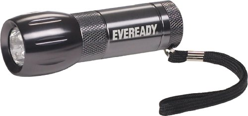 Eveready Compact Led - Eveready 3 LED AAA Metal Flashlight, Compact and Water-Resistant (Batteries Included)