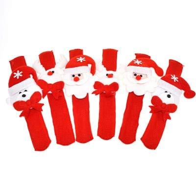 Aquatx Light Up Bracelets 20PCS Christmas Children LED Colorful Flash Light Cartoon Soft Bracelet Red Slap Bracelets Light Up Bands Party Favor by Aquatx