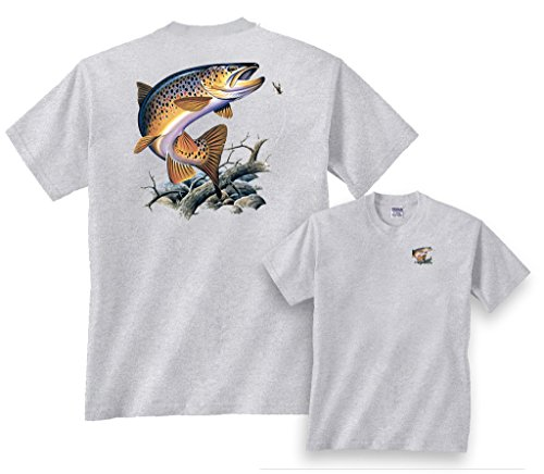 Fair Game Brooke Trout Going for Lure Freshwater Fishing T-Shirt-Ash-Youth (Lure T-shirt)