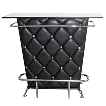 Lounge Haus Bar Tisch Tresen Minibar Design Mobel Schwarz Amazon De