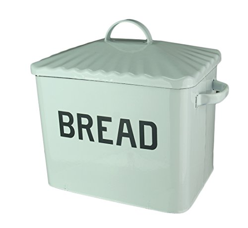Your Heart's Delight Your White Enamelware Bread Box, Multi