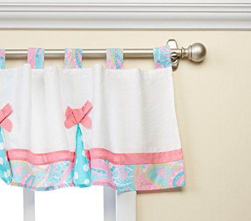 Aqua Baby Bedding (My Baby Sam Pixie Baby Curtain Valance, Aqua)