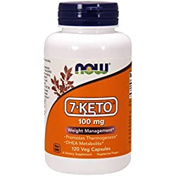 Now Foods 7-Keto(R) Veg Capsules, 100 mg, 120 Count