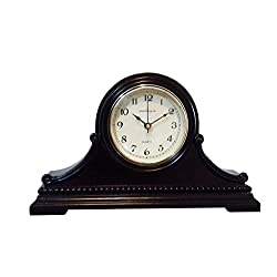 vmarketingsite Decorative Mantel Clock with Westminster Chime, 9 x 16 x 3, Walnut