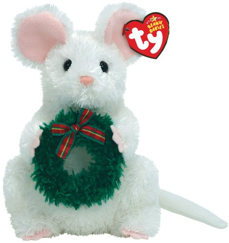 (Garlands - White Mouse with Wreath )