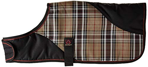 - Kensington Signature Plaid 1200 Denier Dog Coat Turnout Blanket, X-Large, Deluxe Black Plaid