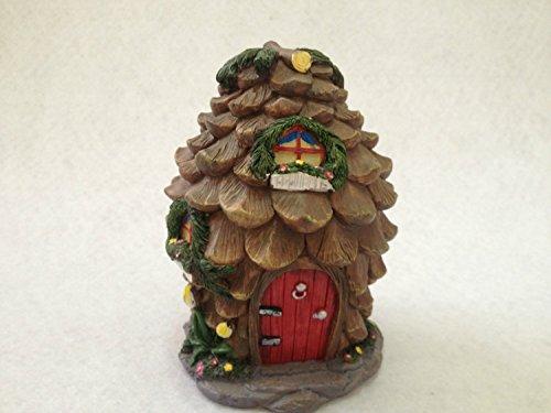 Home-supplies Miniature Fairy Garden and Pine Cone House Statue Figurine Decoration (Own Patio Build Your Concrete)