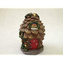 Home-supplies Miniature Fairy Garden and Pine Cone House Statue Figurine Decoration