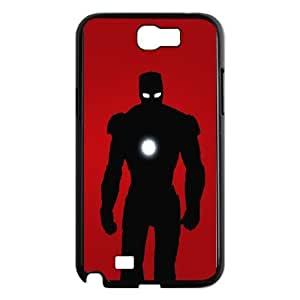 Samsung Galaxy N2 7100 Cell Phone Case Black IronMan Silouhette VIU144426