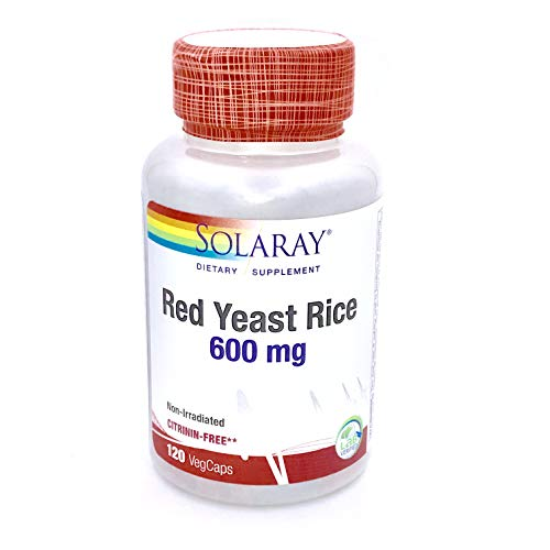 Red Yeast Rice 600mg Solaray 120 VCaps Review
