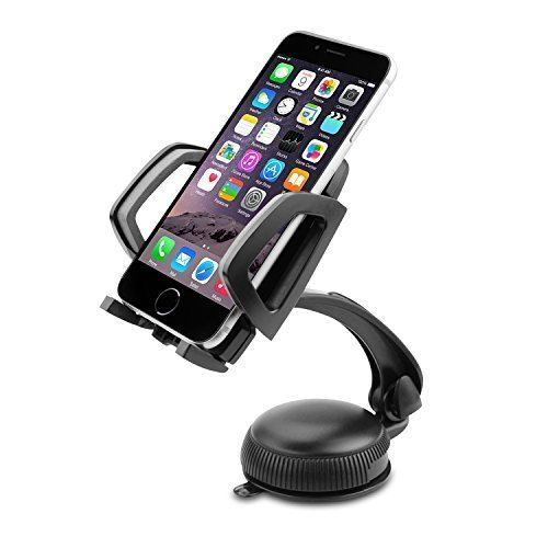 Car Mount Rotary Lock Car Holder Windshield Dashboard Universal Car Cradle for iPhone 6 Plus 5s 5c 4s Samsung Galaxy S6 S6 Edge S5 S4 S3 Note 4 3 Nexus LG Nokia Xperia Moto HTC