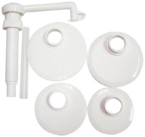 Action Pump J1-kit Food Pump Kit with Lids for Transfer of Ketchup, Sauces, Syrups - Pump Giant Condiment
