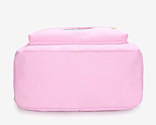Mochilas Escolares Mujer Mochila Escolar Lona Bolsa Casual Para Chicas Bolsa Azul Pink