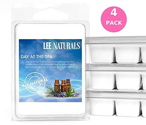 4 Collection Spa Piece Home (Lee Naturals Classic Collection - (4 Pack) Day at The Spa Premium All Natural 6-Piece Soy Wax Melts. Hand Poured Naturally Strong Scented Soy Wax Candle Cubes)