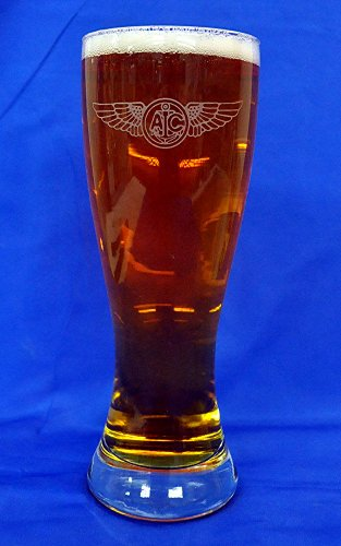 Custom Etched Navy Enlisted Aircrew Wings on 23 oz Pilsner Glass Set of - Custom Glasses Etched Pilsner