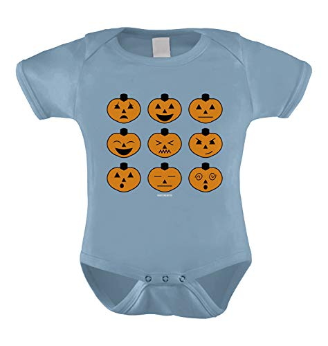 Halloween Pumpkin Icons Infant Bodysuit (Light Blue, 18 Months) -