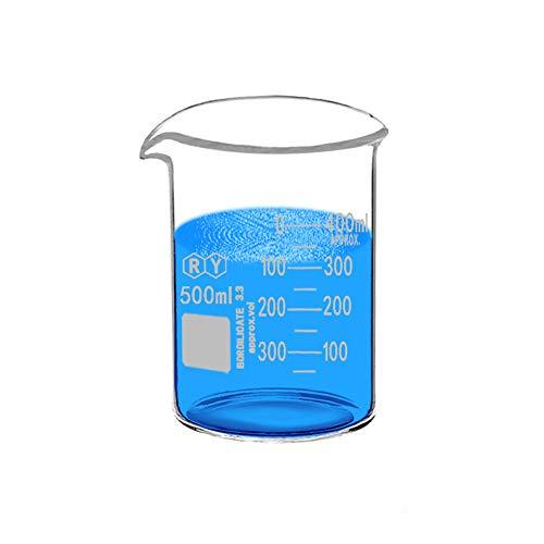 Glass Beakers 500ml Borosilicate Graduated Measuring Low Form Beaker