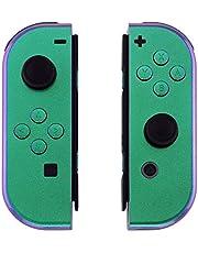 eXtremeRate Carcasa Joy-Con para Nintendo Switch Funda de Agarre de reemplazo Shell de bricolaje con Botón completo accesorios para Nintendo Switch No incluye Carcasa de la consola(De verde a violeta)