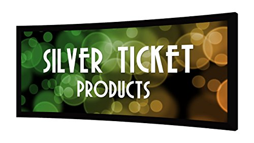 STC-125 Silver Ticket Curved Frame 2.35:1 4K Ultra HD Ready Cinema Format (6 Piece Fixed Frame) Projector Screen (2.35:1, 125', White Material)