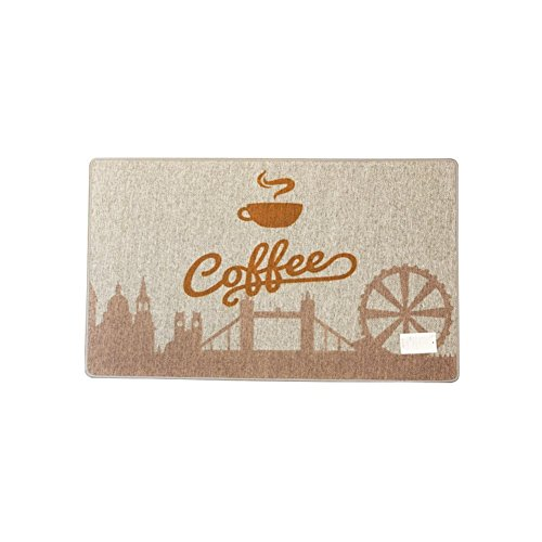 EQEQ Café Café time doormats rug lounge of small rugs door mats in the room budget irregular non-slip tiles in the kitchen - 45 x 75 cm (18 x 30 Customs)