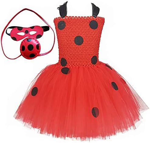 Kids Ladybird Ladybug Jumpsuit Set Costume Wig Cosplay Carnival Halloween Dress