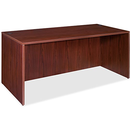 Lorell Rectangular Desk Shell, 72 by 36 by 29-1/2-Inch, Mahogany