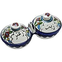Ceramic Serving Plates Zeit w Zaatar Bowls With Handle Made In Palestine