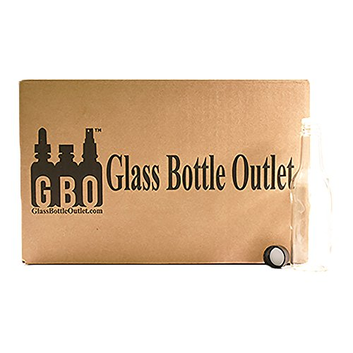 (24 Pack) 5 oz. Clear Glass Hot Sauce Bottle with Black Cap + Shrink band and Orifice Reducer (24/400) by GBO GLASSBOTTLEOUTLET.COM (Image #6)
