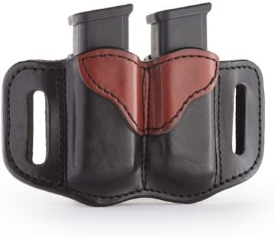 1791 GUNLEATHER 2.2 Mag Holster - Double Mag Pouch for Double Stack Mags, OWB Magazine Pouch for Belts - Classic Brown, Stealth Black, Black & Brown and Signature Brown 41k3NkVFblL