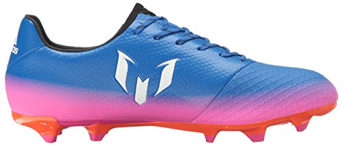 Scarpa Da Calcio Adidas Mens Messi 16.2 Ferma Tacchetti Da Terra Blu / Bianca / Avvertenza