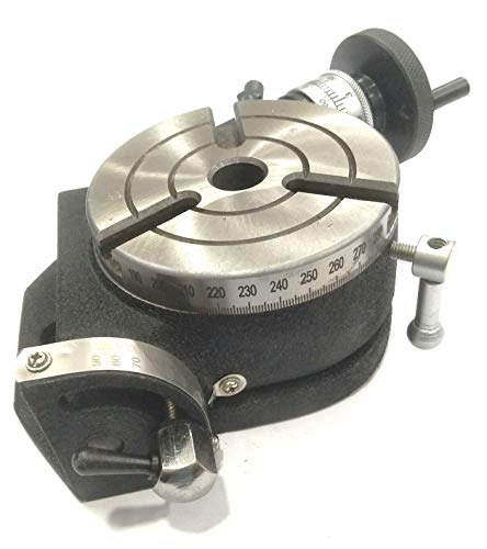 "Precision 4"" Inch/ 100 mm Tilting Rotary Table with MT2 Bore-Milling, Lathe,Engineering Tools"