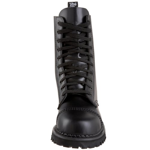 10 Ankle Men Rocky Boots Leather Black Demonia nFEfZx