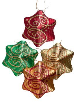 Storz Chocolate Assorted Solid Milk Chocolate Christmas Star Ornaments - 8 Pcs