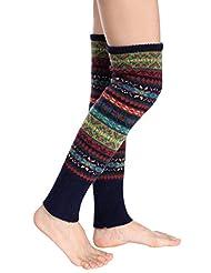 Avidlove Women Knee High Socks Winter Bohemian Knit Crochet Leg Warmers