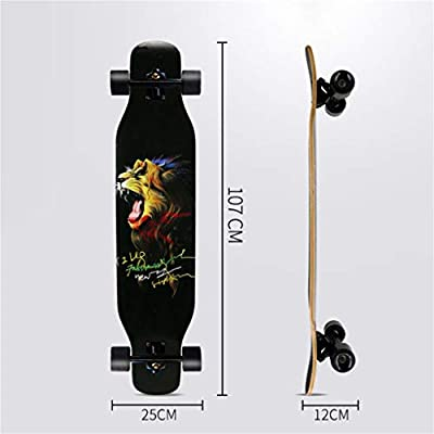 TYXTYX 42 Inch Skateboard Longboard - Complete Skateboard Cruiser for Cruising, Carving, Free-Style and Downhill,Maple Dancing Longboard: Home & Kitchen