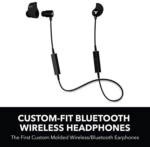 Decibullz - Custom-Fit Bluetooth Wireless Headphones, The First Custom Molded Wireless/Bluetooth Earphones (Black) ()