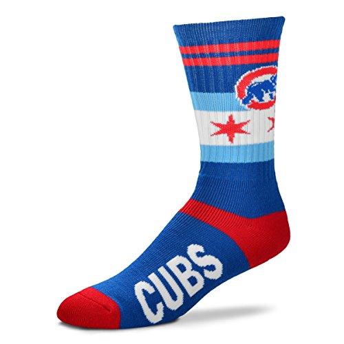 Chicago Cubs Flag Stripe Men's MLB Crew Socks Size Large 10-13 – Sports Center Store