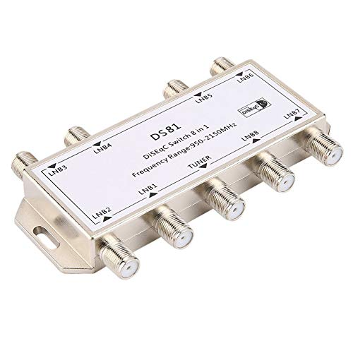 Florenceenid DS81 8 in 1 Satellite Signal DiSEqC Switch LNB Receiver Multiswitch ()