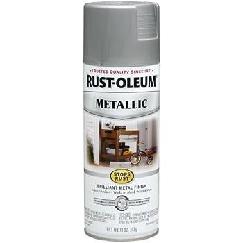Rust Oleum 249130 Universal All Surface Spray Paint 11 Oz Metallic