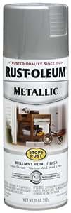 Rust-Oleum 7277830 Stops Rust Metallic Spray, 11-Ounce, Matte Nickel